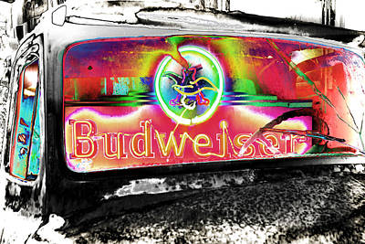 Psychedelic Budweiser Truck Poster by Gej Jones