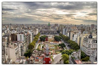 Buenos Aires Congress Tilt Shift Poster by For Ninety One Days