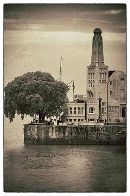 Buenos Aires Lighthouse Vintage Poster