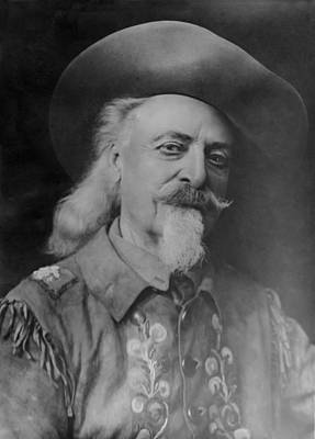 Poster featuring the photograph Buffalo Bill Cody by Charles Beeler
