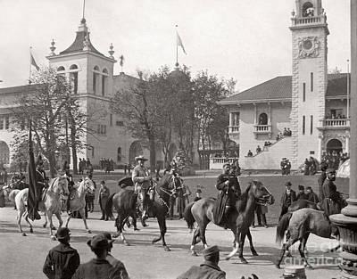 Poster featuring the photograph Buffalo Bill Columbian Exposition 1893 by Martin Konopacki Restoration