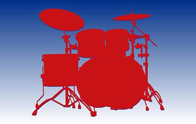 Buffalo Bills Drum Set Poster by Joe Hamilton