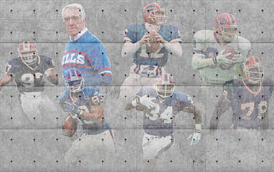 Buffalo Bills Legends Poster by Joe Hamilton
