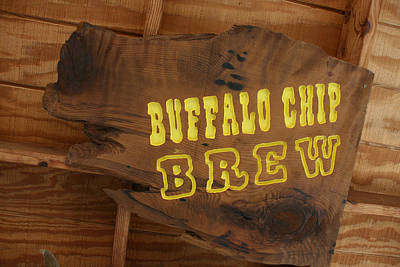 Buffalo Chip Brew Anyone Poster by Marsha Ingrao