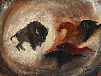 Poster featuring the painting Buffalo Dream by Barbie Batson