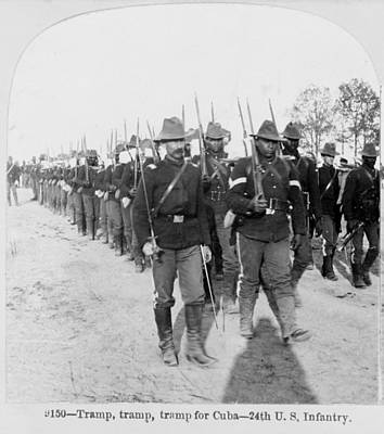 Buffalo Soldiers Of The 24th U.s Poster
