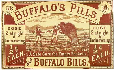 Poster featuring the photograph Buffalo's Pills Vintage Ad by Gianfranco Weiss