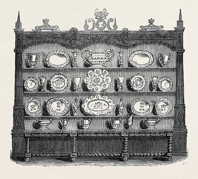 Buffet Of Plate, Banquetting Hall Poster by English School