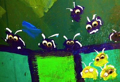 Bug Eyes Abstract Graffiti Art Poster by Karon Melillo DeVega