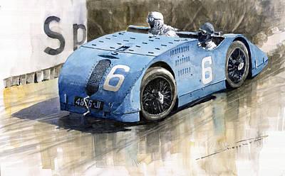 Bugatti Type 32 Tank 1923 French Gp  Poster by Yuriy  Shevchuk