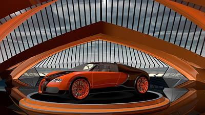 Bugatti Veyron Poster by Louis Ferreira