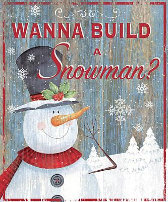Build A Snowman Poster by P.s. Art Studios