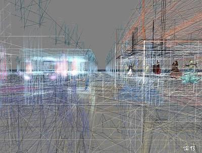 Poster featuring the digital art Building A City by Susanne Baumann