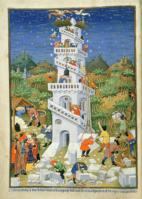 Building Of The Tower Of Babel Poster