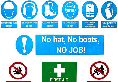 Building Site Safety Poster by Tom Gowanlock