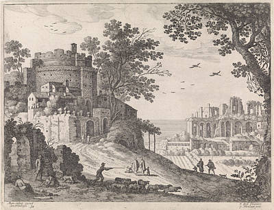 Buildings Along A Road, William Of Nieulandt II Poster