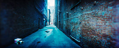 Buildings Along An Alley, Pioneer Poster