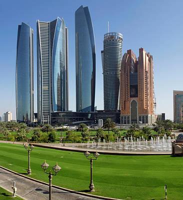Buildings Along Corniche Road, Al Poster
