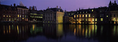 Buildings At The Waterfront, Binnenhof Poster by Panoramic Images