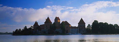 Buildings At The Waterfront, Trakai Poster