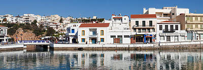 Buildings At Waterfront, Agios Poster