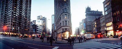 Buildings In A City, Flatiron Building Poster by Panoramic Images