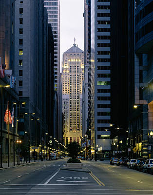 Buildings In A City, Lasalle Street Poster