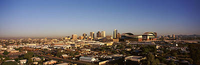 Buildings In A City, Phoenix, Arizona Poster