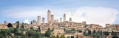 Buildings In A City, San Gimignano Poster