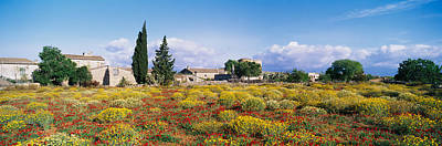 Buildings In A Field, Majorca, Spain Poster by Panoramic Images