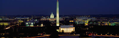 Buildings Lit Up At Night, Washington Poster by Panoramic Images