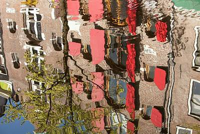 Buildings Reflected In Canal Poster