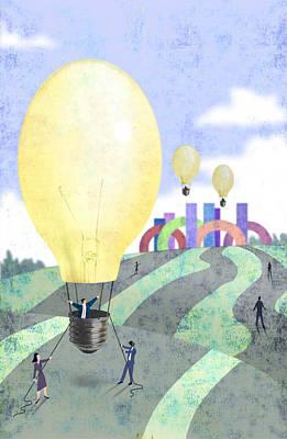 Bulb Balloon Poster