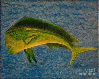 Bull Dolphin Mahimahi Fish Poster