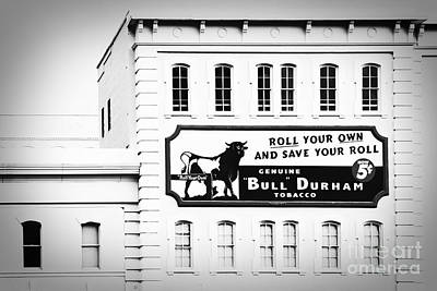 Bull Durham In Black And White Poster