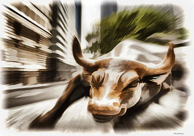 Bull Poster by Ramon Martinez