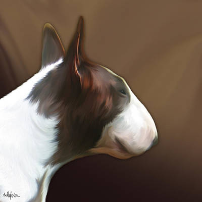Bull Terrier By Bullylove Poster by Bullylove DE