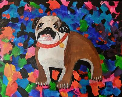 Bulldog Abstract Poster by Ryan Griswold