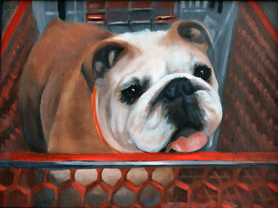 Bulldog Shopping Poster