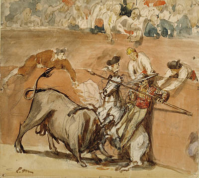 Bullfight Édouard Manet, French Poster