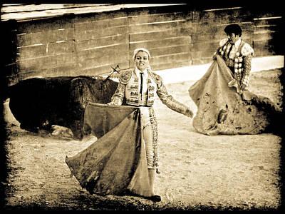Bullfighting Blond Poster