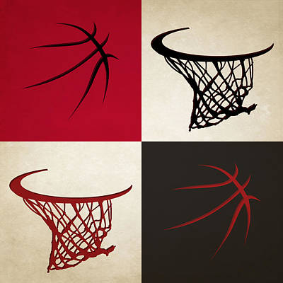 Bulls Ball And Hoop Poster by Joe Hamilton