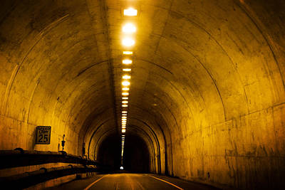 Bunker Road Tunnel Poster by SFPhotoStore