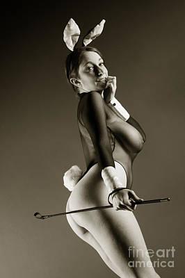 Bunny Girl Tease Poster by John Tisbury