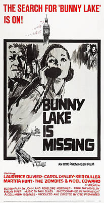 Bunny Lake Is Missing, Us Poster Poster by Everett