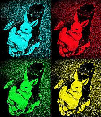 Bunny Pop Art Poster by Aimee L Maher Photography and Art Visit ALMGallerydotcom