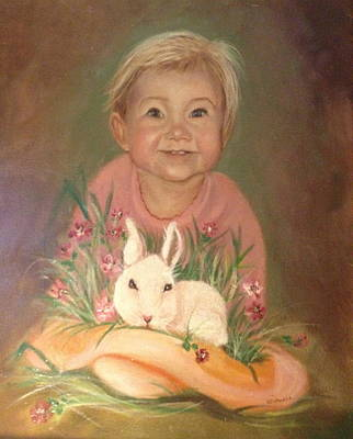Poster featuring the painting Bunny Rabbit by Sharon Schultz