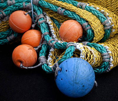 Buoys And Nets Poster by Carol Leigh