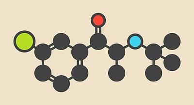 Bupropion Drug Molecule Poster