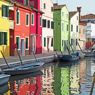 Burano Reflections Poster